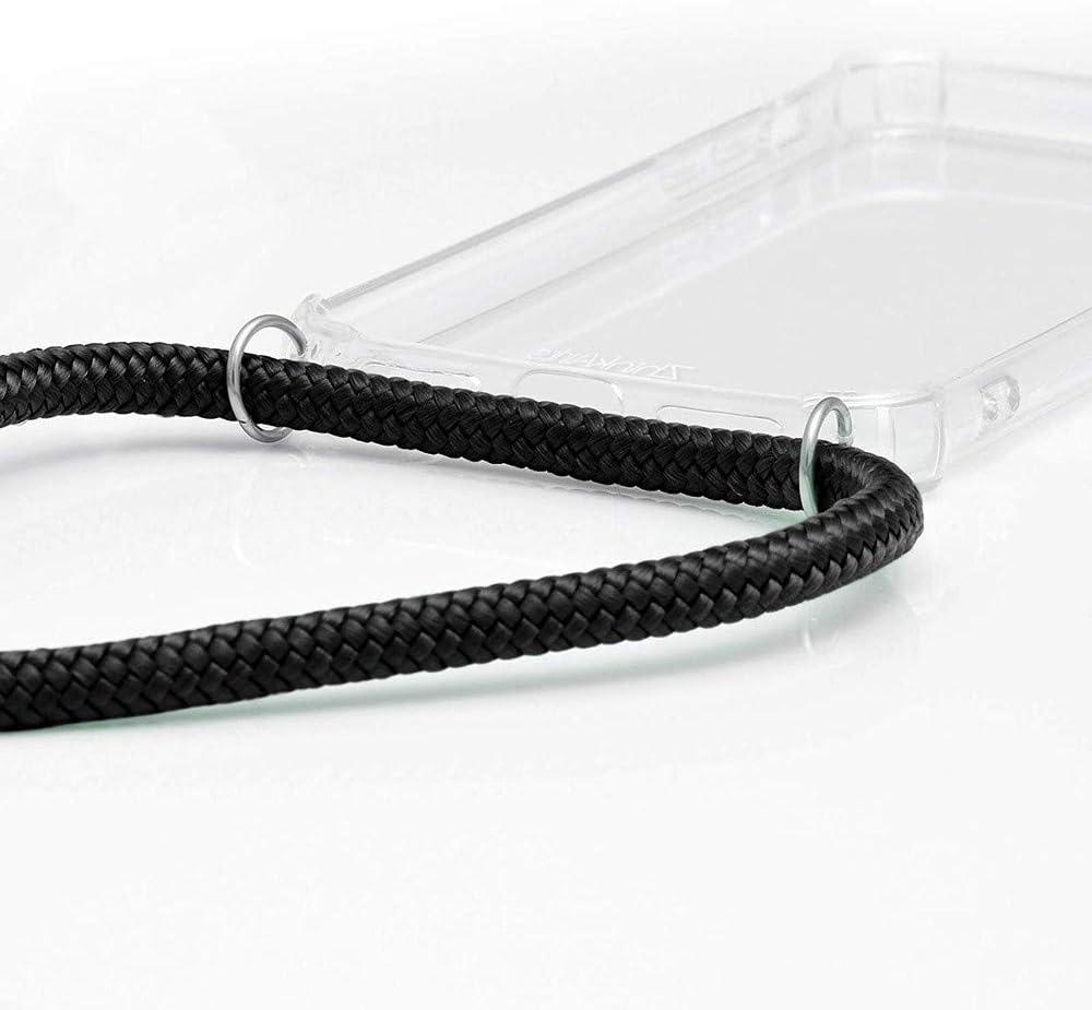 XTCASE Carcasa con Cuerda para OnePlus 7 Pro Silicona Transparente Ultrafina Suave TPU Funda de movil con Colgante Moda y Practico - Rojo Anti-rasgu/ños Anti-Choque