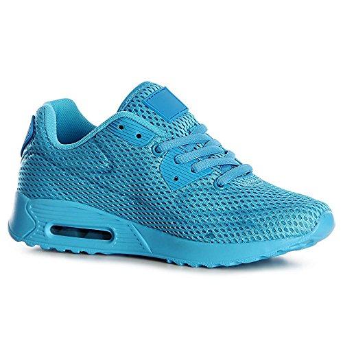Femmes Topschuhe24 Sneaker Bleu Chaussures De Sport 7xp4U1q