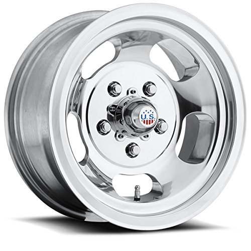 US Mags Indy 15 Polished Wheel / Rim 5x5.5 with a -12mm Offset and a 108 Hub Bore. Partnumber U10115508525