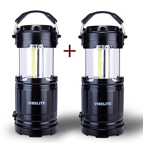 VIBELITE LED Collapsible Portable Outdoor Lantern with Flashlight, Black (Pack of - Sizes Caravan Uk