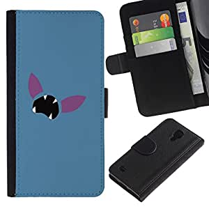 All Phone Most Case / Oferta Especial Cáscara Funda de cuero Monedero Cubierta de proteccion Caso / Wallet Case for Samsung Galaxy S4 IV I9500 // Minimalist Poke Face