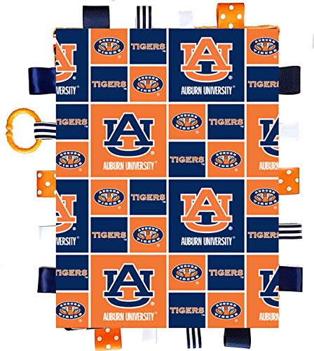 Auburn Tigers Baby Sensory Tag Lovey Blanket