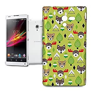 Phone Case For Sony Xperia ZL L35H - Christmas Forest Animals Protective Lightweight