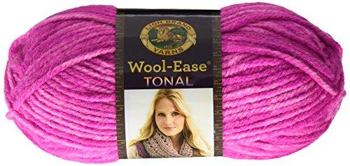 Lion Brand Yarn 635-146 Wool-Ease Tonal Yarn, Fuchsia, Fuchia