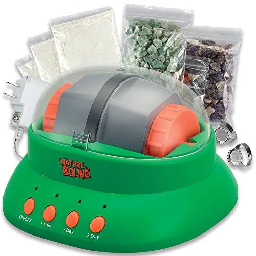 Starter Rock Tumbler Kit for Kids- Includes Rough Gemstones