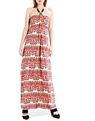 Benancy Women S Sexy Halter Neck Long Beach Dresses Sleeveless Print Maxi Dress Sy M