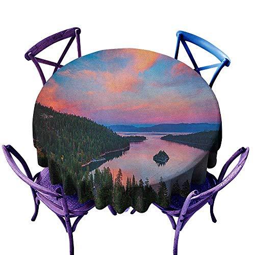 familytaste Lake Tahoe,Round Tablecloth D 54