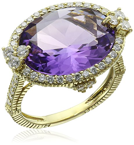 Judith-Ripka-Monaco-18k-Yellow-Gold-Amethyst-and-Diamond-Ring