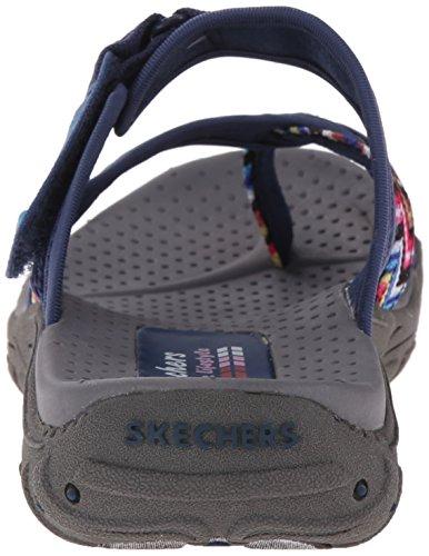 Skechers Womens Reggae-zig Swag Flip-flop Marine / Multi
