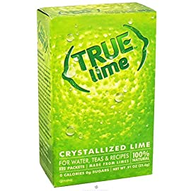 True Lime, Unsweetened Crystallized Lime (Pack of 2 Boxes, Total 64 Individual Packets) 8 Includes: 2 True Lime 32ct;100% Natural. 100% Delicious. 100% Convenient.;No Artificial Sweetners, No Preservatives, No Sodium, No Gluten;Enjoy fresh-squeezed Lemon & Lime anytime, anywhere! Great for Offices and Lounges.;Add to beverages, baked goods or cooking