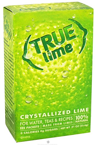 True lime, unsweetened crystallized lime (pack of 2 boxes, total 64 individual packets) 1 includes: 2 true lime 32ct 100% natural. 100% delicious. 100% convenient. No artificial sweetners, no preservatives, no sodium, no gluten