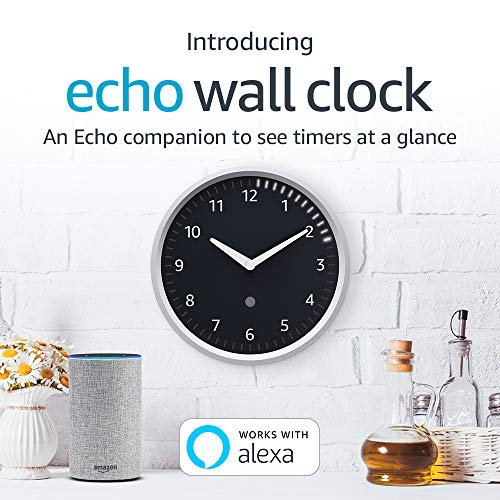 Echo Wall Clock – see timers at a glance – requires compatible Echo device post thumbnail