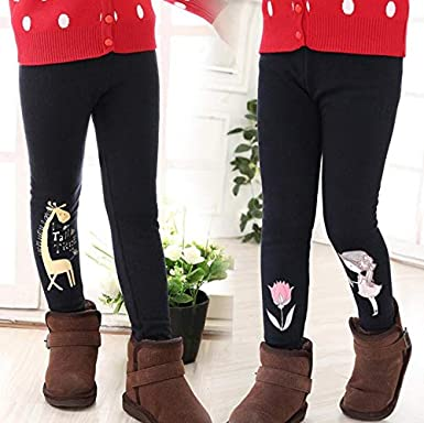 Brinny Kinder M/ädchen Casual Leggings Thermo Leggings Hosen Dick Leggings Hosen Bleistift Hose Gef/üttert Fleece Strumpfhose