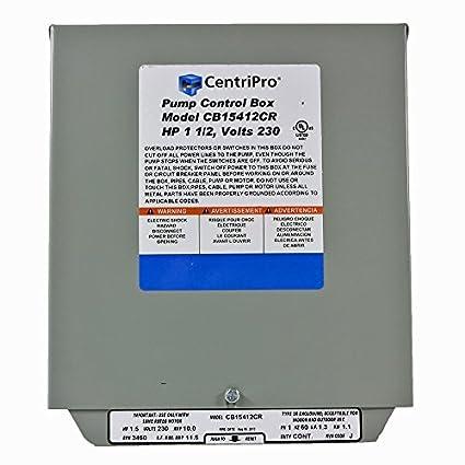 amazon com cb15412cr centripro submersible pump control box 1 5 hp rh amazon com CentriPro Cb30412mc Wiring-Diagram Well Pump Wiring Diagram