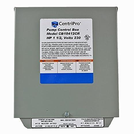 CB15412CR CentriPro Submersible Pump Control Box 1 5 HP 230 V Goulds