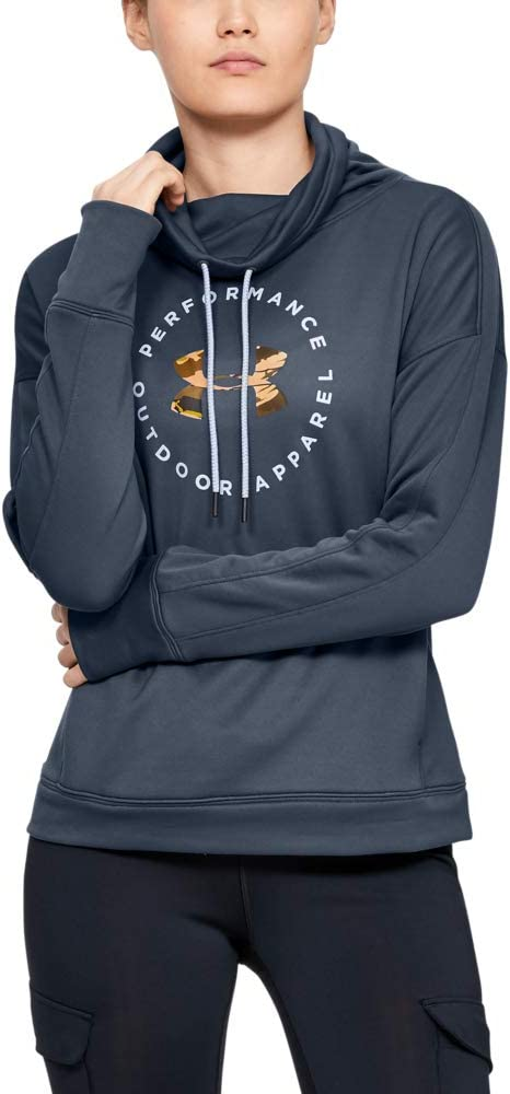 Under Armour Womens Terry Graphic Funnel Neck Hoodie