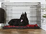 Dog-Crate-Double-Door-Folding-Metal-Wire-Cage-wDivider-Tray-for-Training-Pets-2019-Newly-Designed-Model
