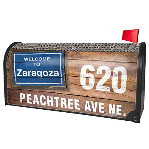 NEONBLOND Custom Mailbox Cover Sign Welcome to Zaragoza]()