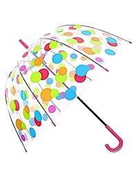 Kung Fu Smith Clear Umbrella, Dome Transparent Umbrella for Women Girls & Kids Weddings Windproof