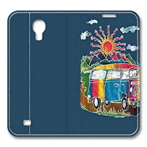Batik Tour Bus Smart Case Cover with Back Case for Samsung Galaxy S4/I9500