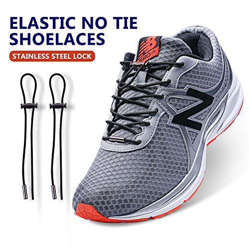 No Tie Elastic Shoe laces,2019 New Stainless laces Lock for Kids,Adults(3 pairs)