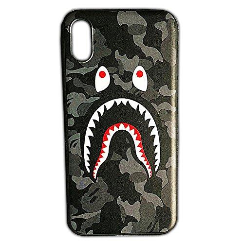 - Bape | A Bathing Ape iPhone X 10 Phone Case | Black Grey Camouflage Shark Jaw