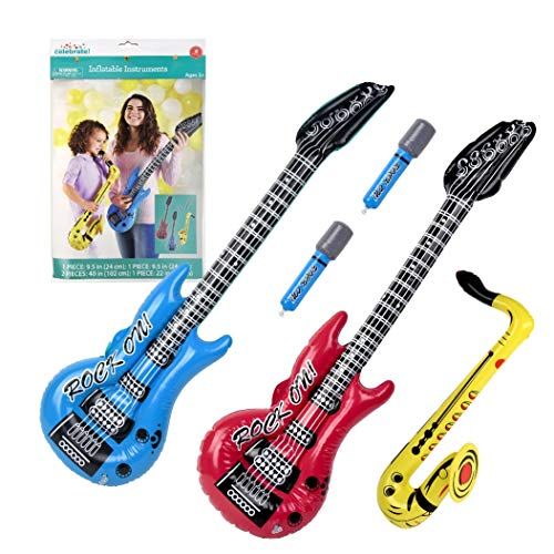 Inflatable Rock Star Toy Set (Pack of 5) Includes 40
