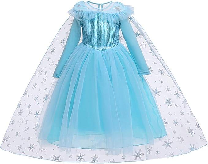 Amazon.com: Bonito disfraz de sirena de nieve, princesa ...