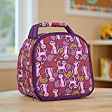 Fit & Fresh Kids' Gabby Insulated Lunch Bag with Exterior Pocket and Full Zip Closure, Versatile School Lunch Box for Girls, Paisley Cats