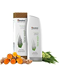 Himalaya Neem & Turmeric Natural Face Wash & Cleanser for Oily and Acne Prone Skin, 5.07 Oz/150 ml
