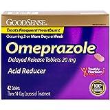GoodSense Omeprazole Delayed Release Acid Reducer Tablets 20 mg, 42 Count