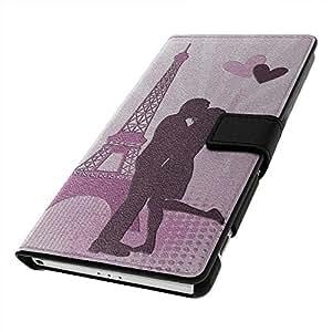 Rendez Vous Paris 10205, Negro Funda de Piel Cuero Case Magnética con Función de Soporte Carcasa con Diseño Colorido para Sony Xperia Z2