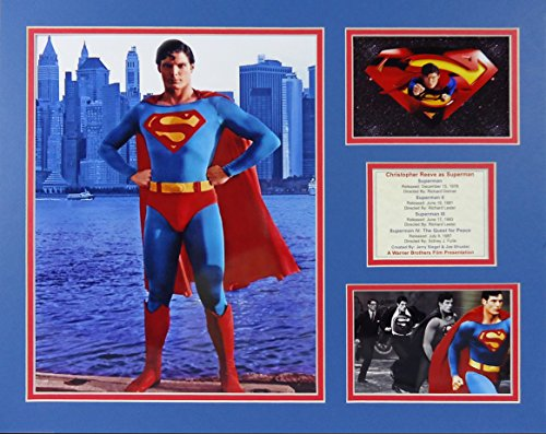 """Superman - Christopher Reeves 16"""" X 20"""" Unframed Matted Photo Collage By Legends Never Die, Inc."""