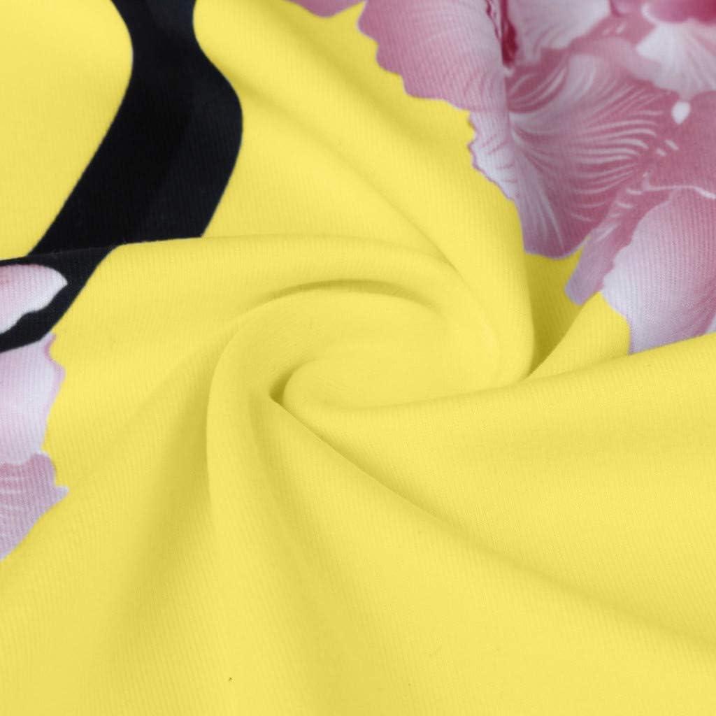 Geilisungren Kurzarm T-Shirt Damen Mode High Heels Pumps Drucken Bluse Gro/ße Gr/ö/ßen Oberteile Frauen Sommer Casual Rundhalsausschnitt Tees Loose Fit Oversize Tunika Tops S, Blau1