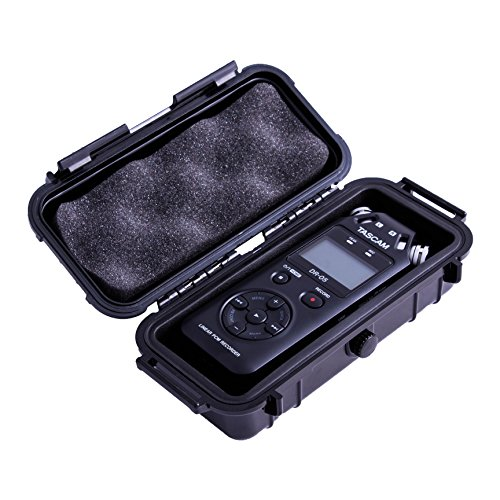 CASEMATIX Carry Case For Tascam Dr-05/Tascam DR-22wl Portable Handheld Recorder w/Wi-Fi – Waterproof, Airtight Protective Design With DR22WL Foam Padding by CASEMATIX