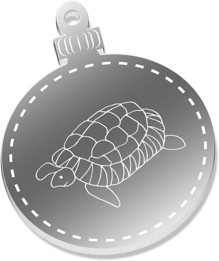 CB00060524 Azeeda 2 x 52mm Schildkr/öte Klare Weihnachtsdekoration
