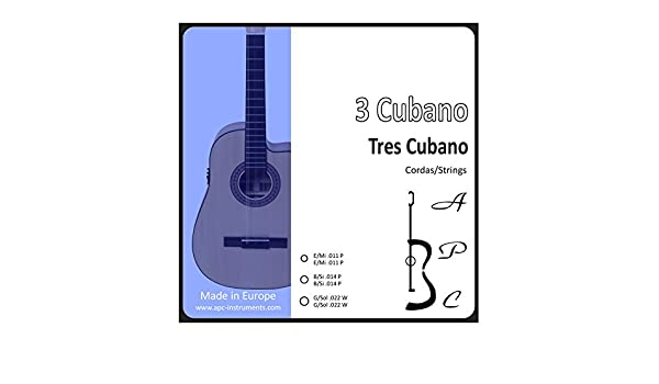 APC COR3CUB - Cuerdas para Instrumento: Tres Cubano: Amazon.es: Instrumentos musicales