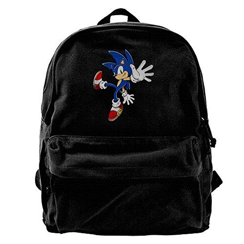 Sonic Art Assets Sonic The Hedgehog 5Canvas Backpack Daypack (Sonic The Hedgehog Basic Party Pack)