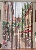 Saturday Knight European Cafe Window Art Panel, 72 by 84-Inch