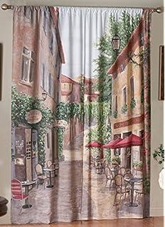 Saturday Knight European Cafe Window Art Panel, 72 By 84 Inch