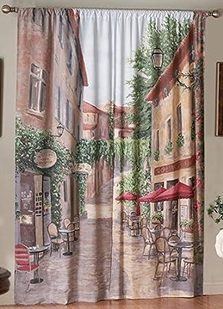 Saturday Knight European Cafe Window Art Panel 72 by 84-Inch & Amazon.com: Saturday Knight European Cafe Window Art Panel 72 by ...