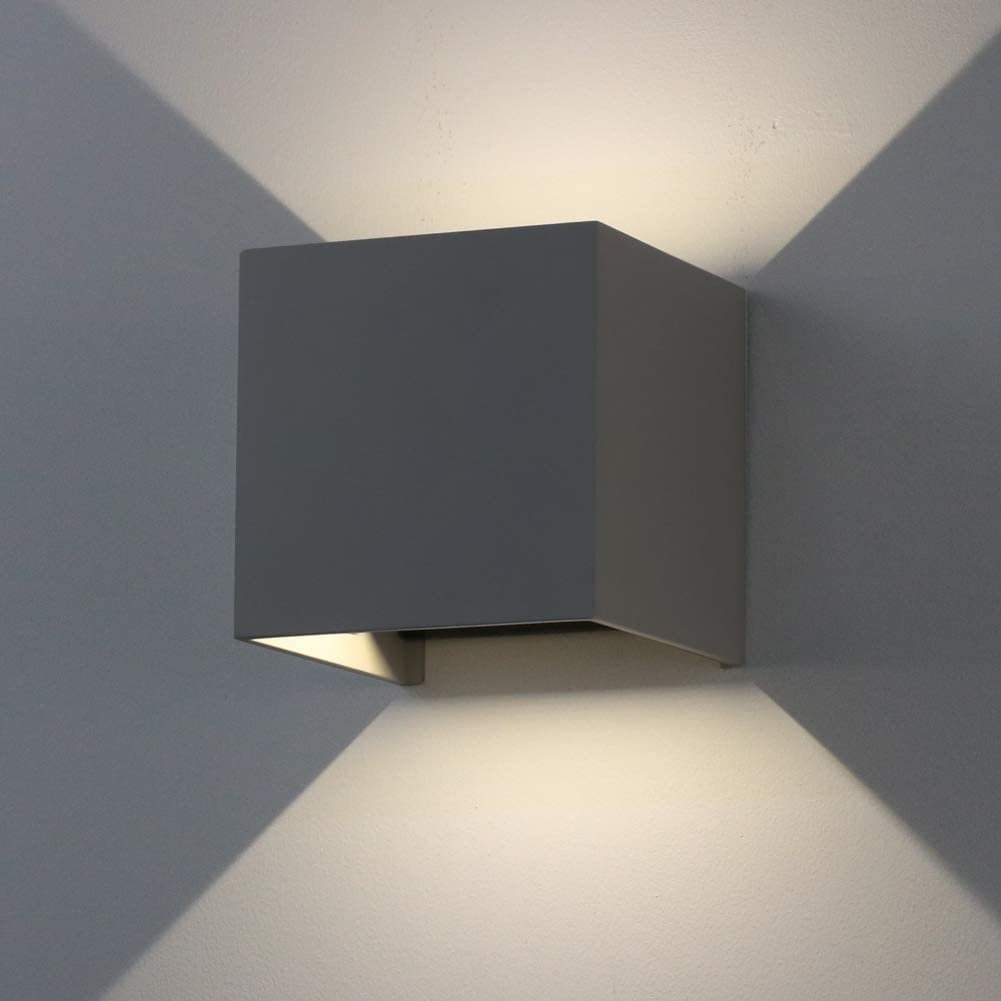 K Bright 12w Dark Gray Cube Led Outdoor Wall Lamps Up And Down Adjustable Light Beam Waterproof Ip65 For Outdoor Wall Light 4000k 4500k Natural White Indoor Decorative Wall Lamps Amazon Co Uk Lighting