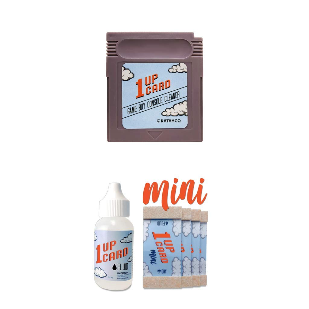 Game Boy Cleaning Kit by 1UPcard - Console and Game Cartridge Cleaner Bundle