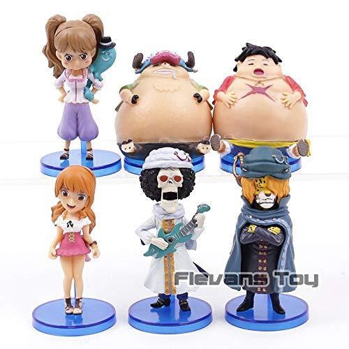 GrandToyZone FIGURE SERIES - One Piece Figure 6pcs/Set / 6-8cm (2.4-3.1 inch)