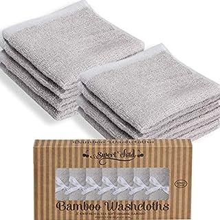 SWEET CHILD Bamboo Baby Washcloths (Bonus 8-Pack) - Premium Extra Soft