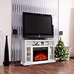 GMHome 46 Inches TV Stand Electric Fireplace Insert Media Console with Bookcase with Remote Control Electric Fireplace…