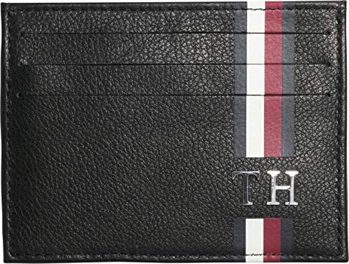 Tommy Hilfiger Th Corporate Cc Holder, Men's Credit Card Case, Black, 1x7.2x10.4 cm (B x H T) from Tommy Hilfiger