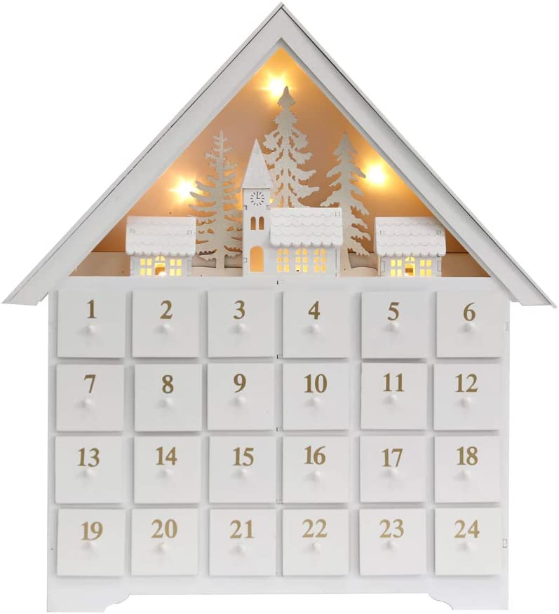 Wooden Advent Calendar House | Beanstalk Mums