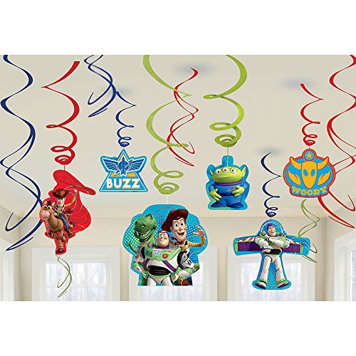 Disney Toy Story Value Pack Plastic Swirl Decorations, Party Favor