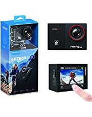 AKASO EK7000 Pro 4K WiFi Action Camera with Touch Screen EIS Underwater Waterproof Camera Sports Camera Adjustable View Angle 40m Action Cam Remote Control 2 Rechargeable Batteries and Accessories Kit